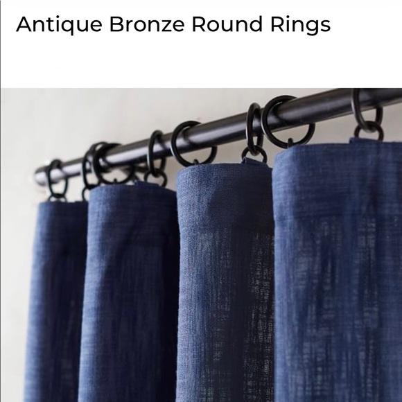 Potterybarn (14) Large Round Iron Curtain Rings